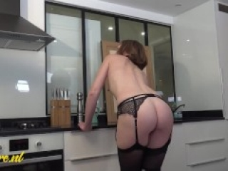 Posh French Lady Secretly Loves a Big Cock Up Her Ass