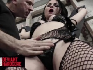 Deviant Hardcore - Dirty Tied Up Slut Veruca James Throat & Pussy Fucked By Her Master