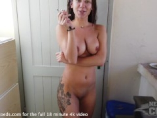large chested model on vacation with porn director