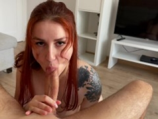 Cowgirl and Facial for pretty wife. KleoModel