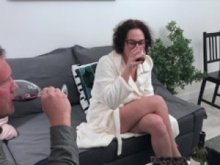 Slut wife fucks with her husband's friends while he is not at home! (Free version)