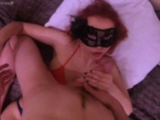 Remove my mask and Cum on my pretty face! - Mimi Boom