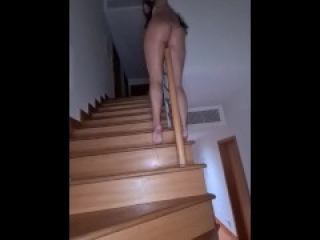 I SQUIRT DOWN MY STAIRCASE (while my Mum is Asleep) Pt.2