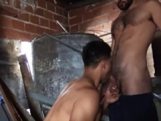 Reality Dudes - Fran Sucks Gonzo's Big Dick After Hiding In The Old Storage Room