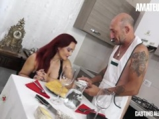 AmateurEuro - Rough Anal SEX On The Casting Couch For Busty Italian MILF