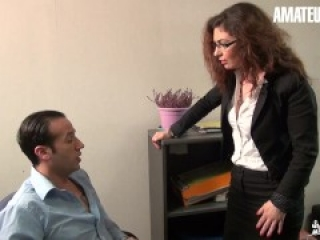 LaCochonne - Julia Gomez French MILF Enjoys Coworkers Big Cock In Her Ass - AMATEUREURO