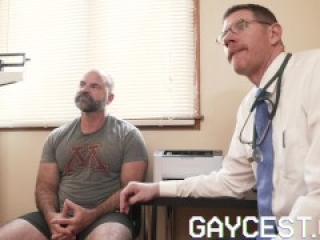 GAYCEST - Dad gets horny watching stepson get fucked by doctor