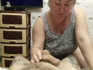 mother-in-law sucks cock before going to bed