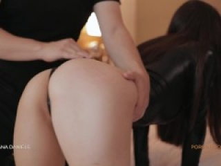 Submissive busty brunette gets spanked and fucked - Amateur Diana Daniels