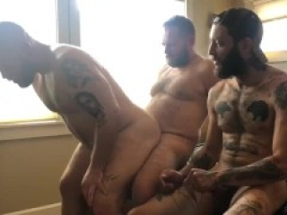Seattle guys spend a rainy afternoon indoors