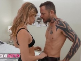 Look At Her Now - Pretty Blonde Assistant Leah Lee Assists Her Boss Scott Nails With His Boner