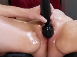 The Queen Takes Her Hitatchi, Anal Plug, Four Fingers and a Cock
