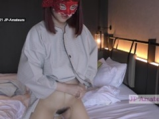 Hairy Pubic Hair Japanese Beautiful Amateur MILF showing how she use DILDO Her Boob is fantastic!