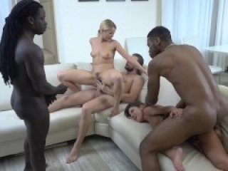 Gave My Wife And Her Stepsister Orgy With 2 BBC