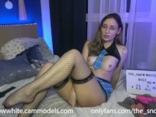 The_Snowwhite plays with toys CUM, MOAN, RIDING