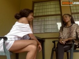 Young Ugandan lesbian cutie gets licked and fingered