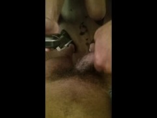 Me getting my pubes shaved by a friend