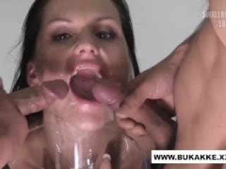 Busty Barbara gets Warm Facial Glazing - bukkake.xxx