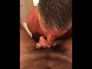 Hot Dad likes thick raw dick
