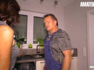 HausfrauFicken - Cheating Wife Gets Her PIPES FIXED By Plumber AmateurEuro