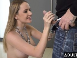 ADULT TIME - Russian Blondie Kaisa Nord Guzzles Double-Oral Creampie After Rough DP