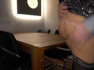 new year's eve business meeting - boss fucks secretary on the table