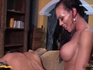 Mia Gives Man the Full Girth and Length of Her Massive Trans Cock