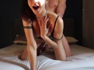 amateur couple has real passionate sex in front of camera intense orgasm with creampie