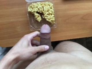 Insatiable student jerks off and adds cum in chack-chack