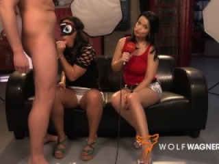 Cute Latina Danny Bubbles gets banged by 2 guys! WOLF WAGNER